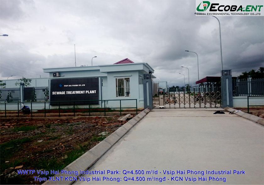 Trạm xử lý nước thải KCN Vsip Hải Phòng