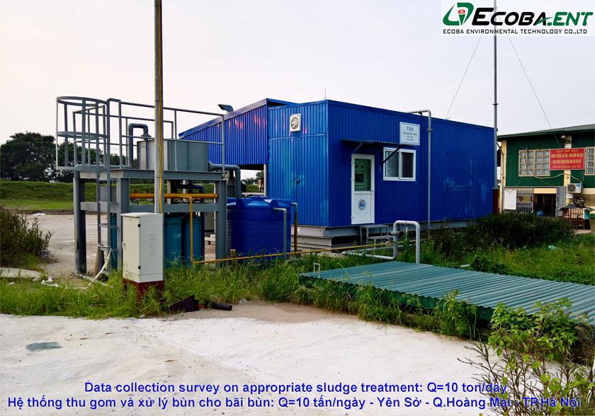 Hệ thống thu gom và xử lý bùn cho bãi bùn Yên Sở