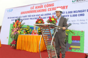 Commenced the construction of sewage treatment plant at VSIP Hai Duong