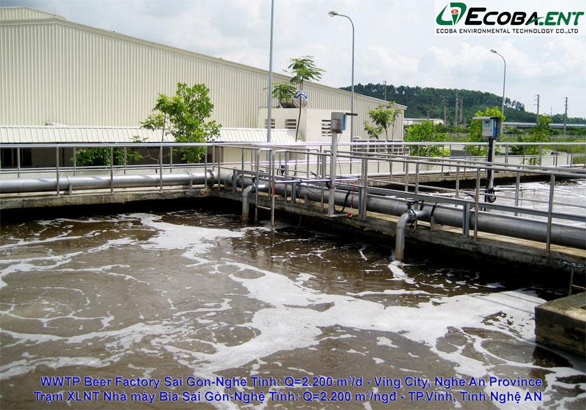 Nhà máy xử lý nước thải của nhà máy bia Sài Gòn - Nghệ Tĩnh
