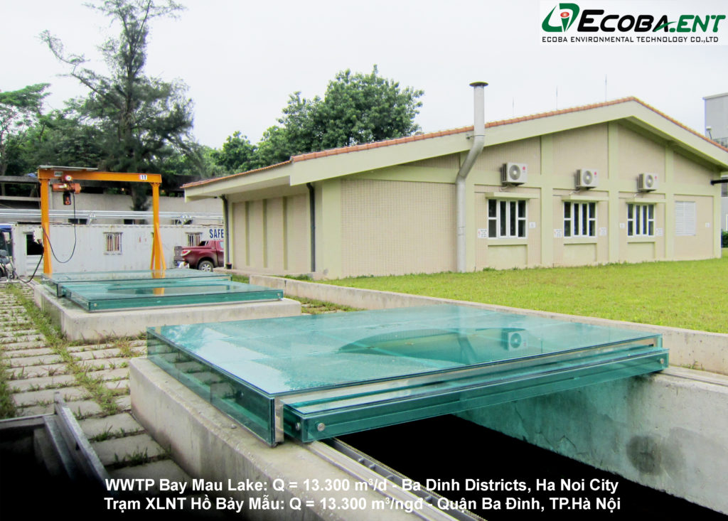 The wastewater treatment plant for Bay Mau Lake
