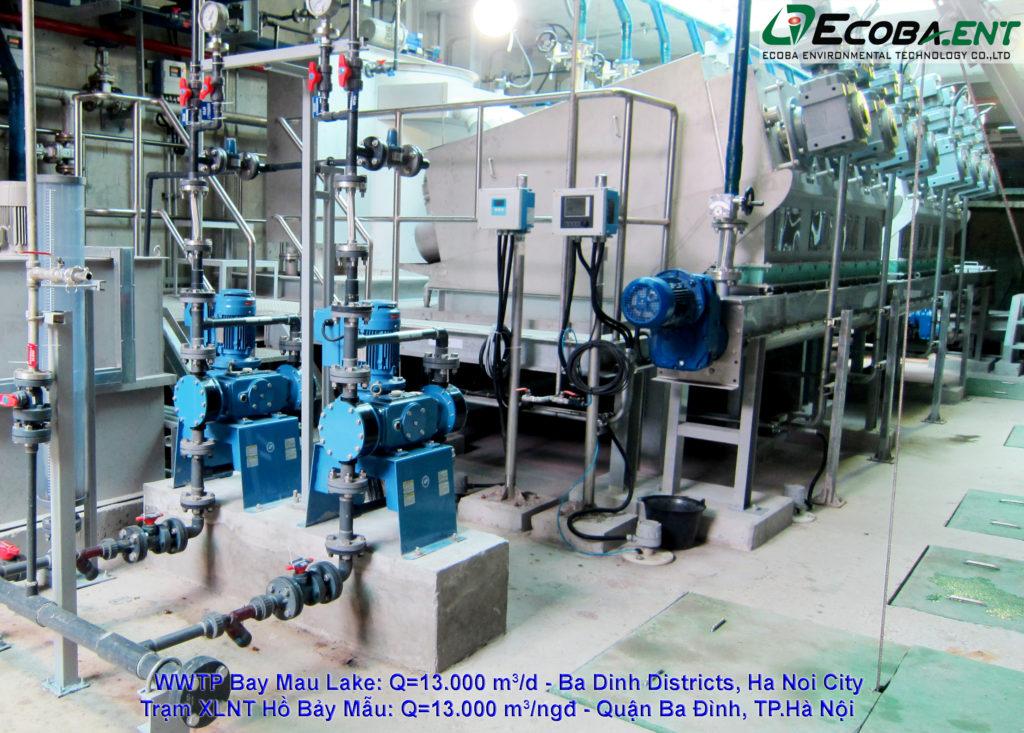 Nhà máy xử lý nước thải Hồ Bảy Mẫu.