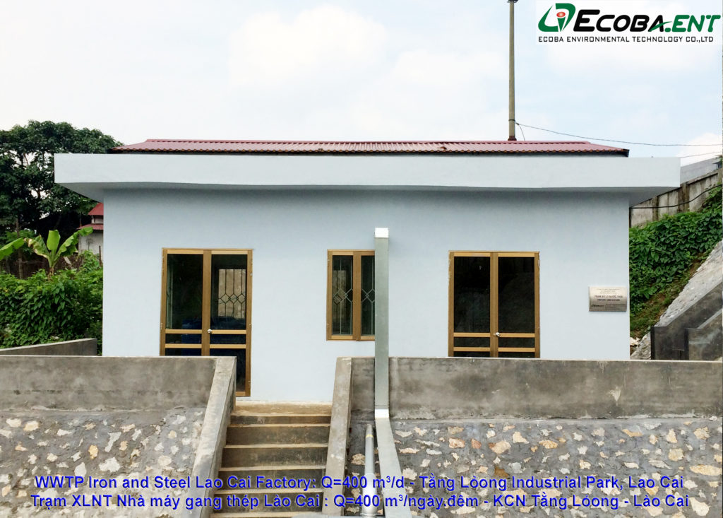 The wastewater treatment plant for Lao Cai Iron and Steel Factory