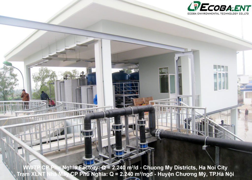 Nhà máy xử lý nước thải cho Nhà máy chế biến thực phẩm C.P Phú Nghĩa