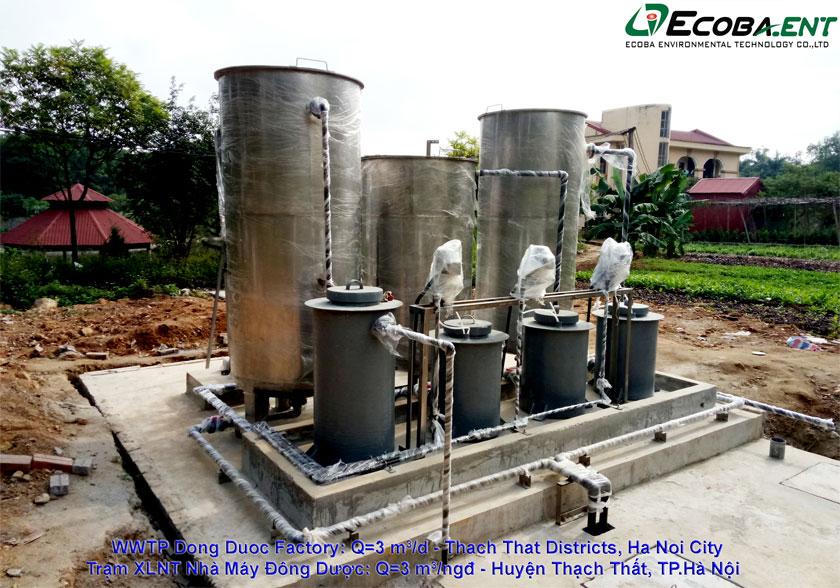 Trạm xử lý Nước thải sản xuất & công nghiệp SX Đông Dược