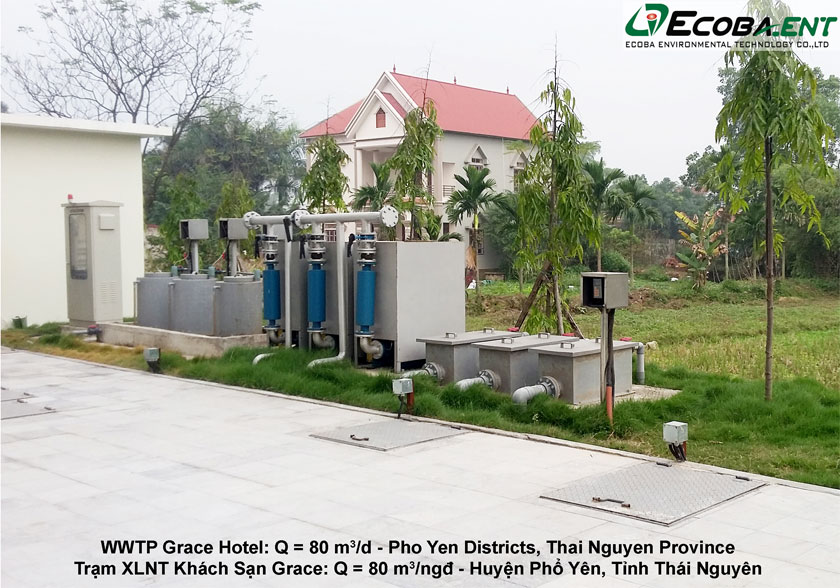 The wastewater treatment plant for Grace Hotel