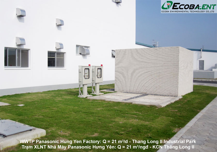 The wastewater treatment plant for Panasonic Hung Yen Factory