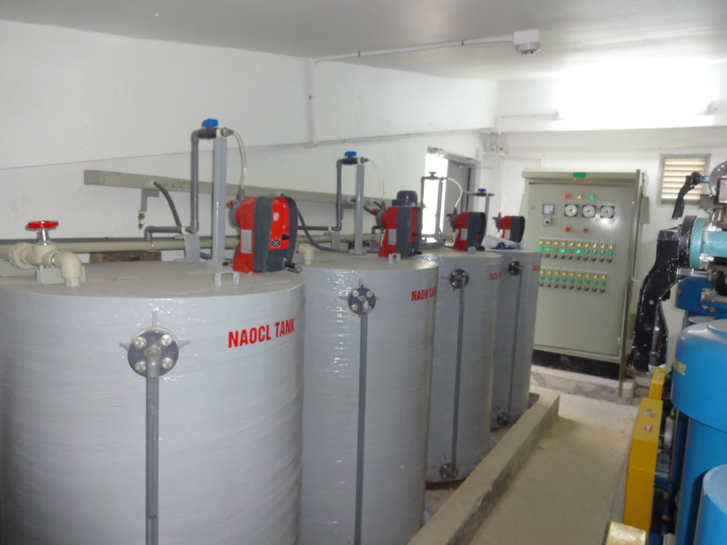 The wastewater treatment plant for Tamron Factory