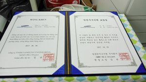 Ecoba ENT was awarded the safety prize organized by Samsung Electro-Mechanics