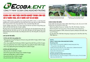 Ecoba Environmental Technology in Environment Magazine number 5/2018