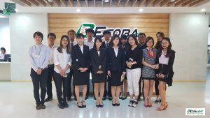 Sinh viên trường UEB và OCU (Nhật Bản) tham quan thực tế doanh nghiệp tại Ecoba ENT