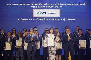 ECOBA WAS RANKED IN THE LIST OF 500 FASTEST GROWING ENTERPRISES IN VIETNAM – FAST 500
