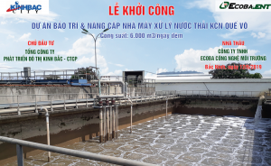 Commencement of Maintenance & Upgrade Wastewater Treatment System project – Que Vo IZ