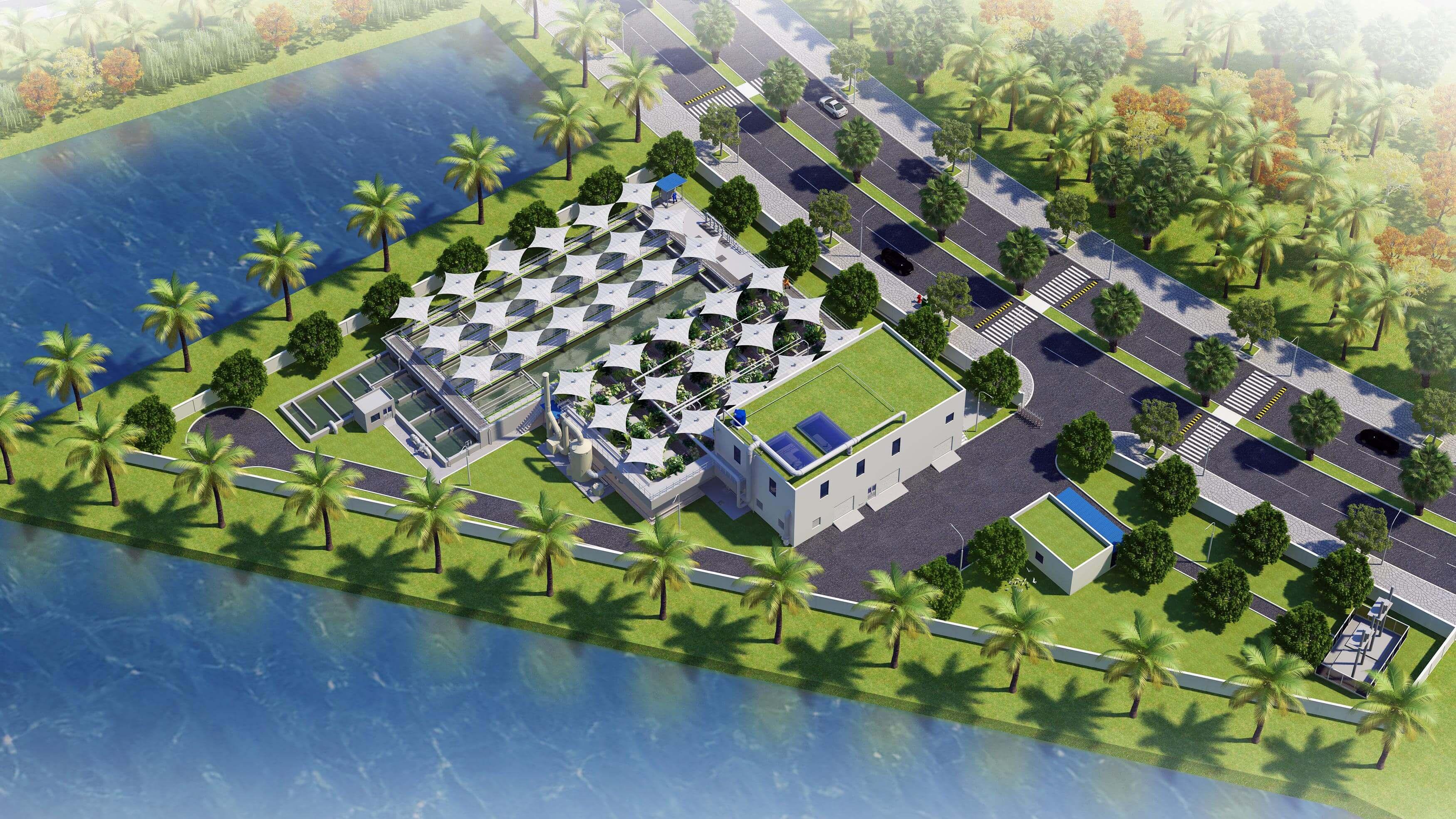Nhà máy xử lý nước thải Đại đô thị Vinhomes Grand Park