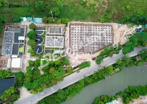 The new information on the progress of the centralized wastewater treatment plant for Tien Son industrial park, phase 3