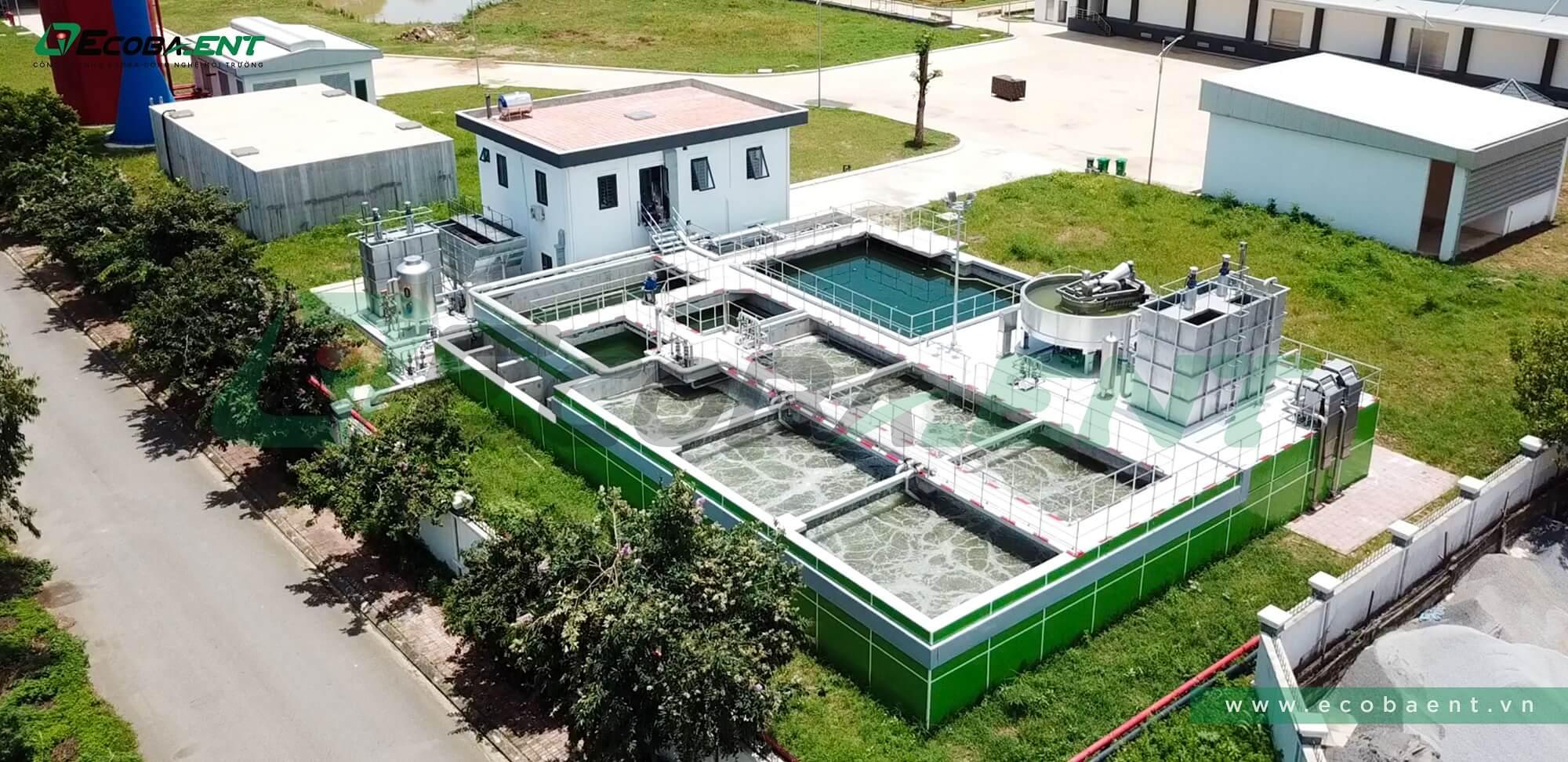 Trạm xử lý nước thải nhà máy giết mổ và pha lóc thịt lợn C.P Phú Nghĩa