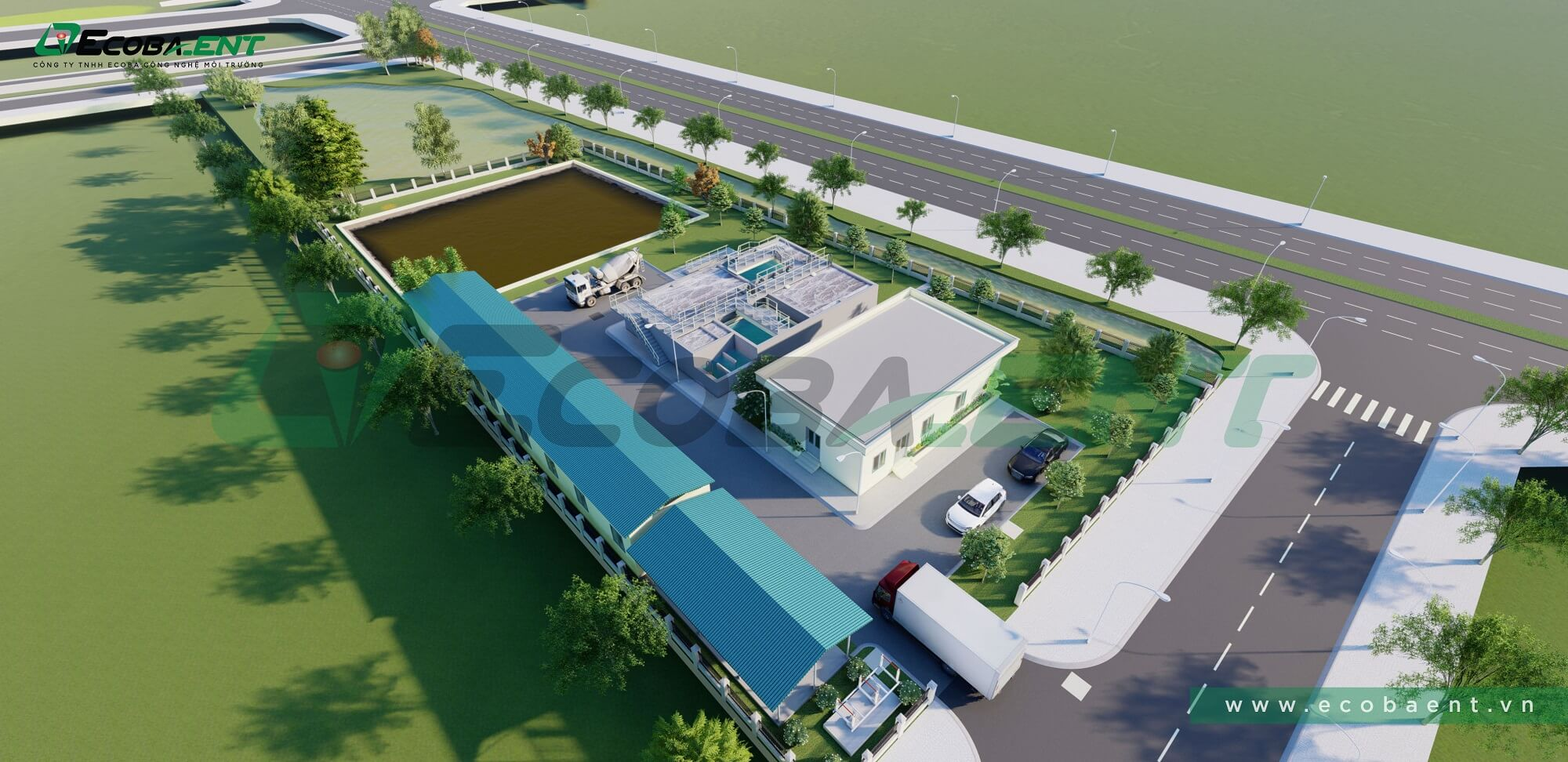 The centralized wastewater treatment plant for Nham Son Industrial cluster