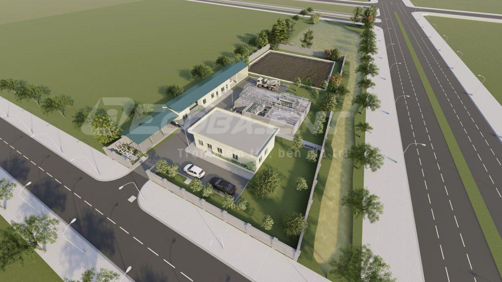 Trạm xử lý nước thải cụm công nghiệp Nham Sơn
