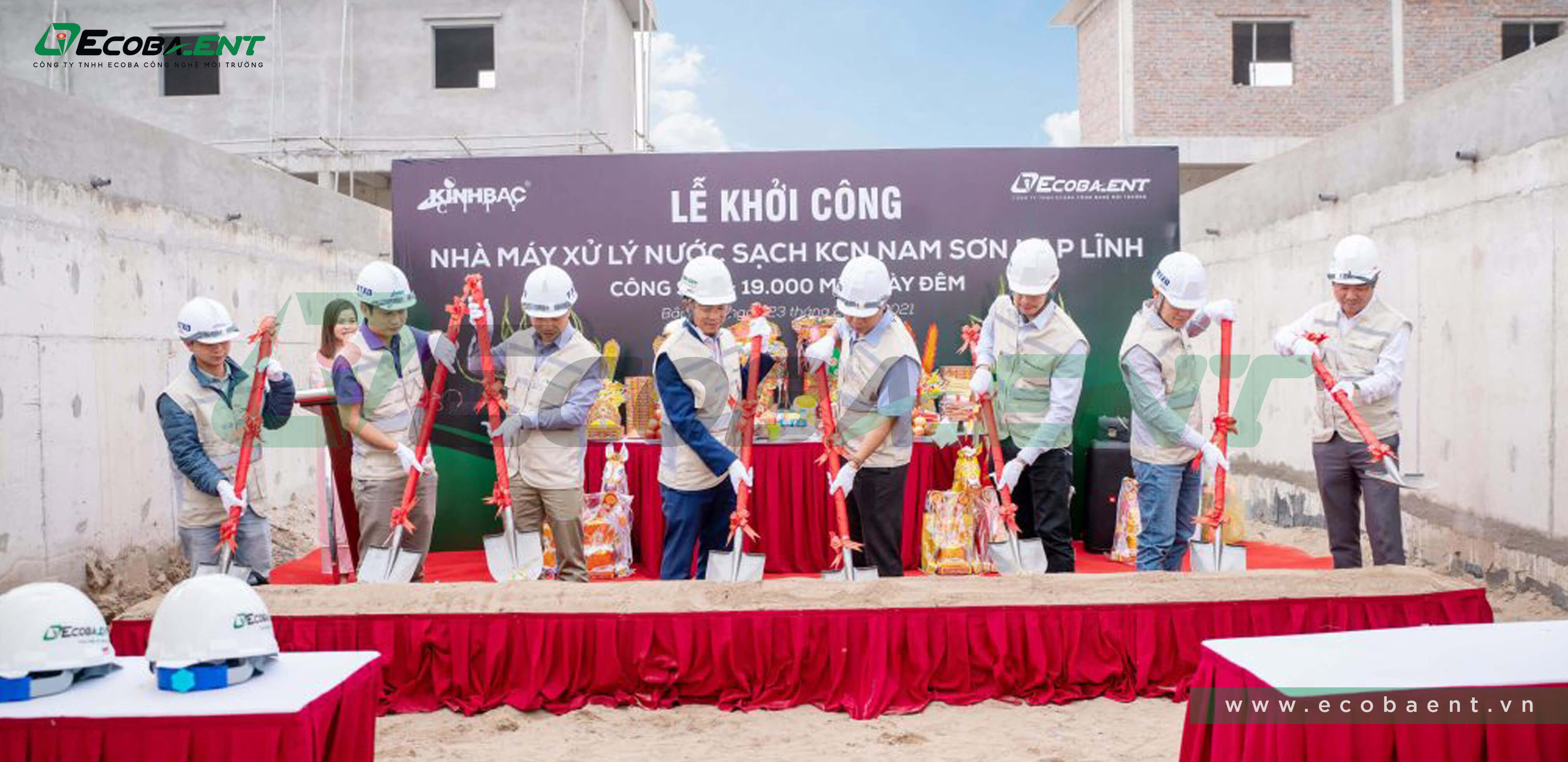 Trạm xử lý nước sạch khu công nghiệp Nam Sơn Hạp Lĩnh