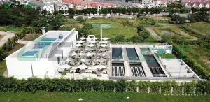 <p>The municipal wastewater treatment plant for Vinhomes Smart City urban area</p>